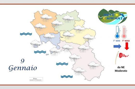 Campania, alle prese con la pioggia anche oggi
