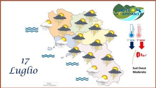 SABATO instabile, piogge e temporali