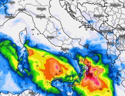 Focus maltempo del weekend sul Sud Italia