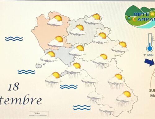 Nubi e locali precipitazioni