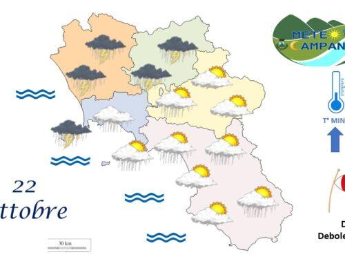 cielo nuvoloso e precipitazioni moderate
